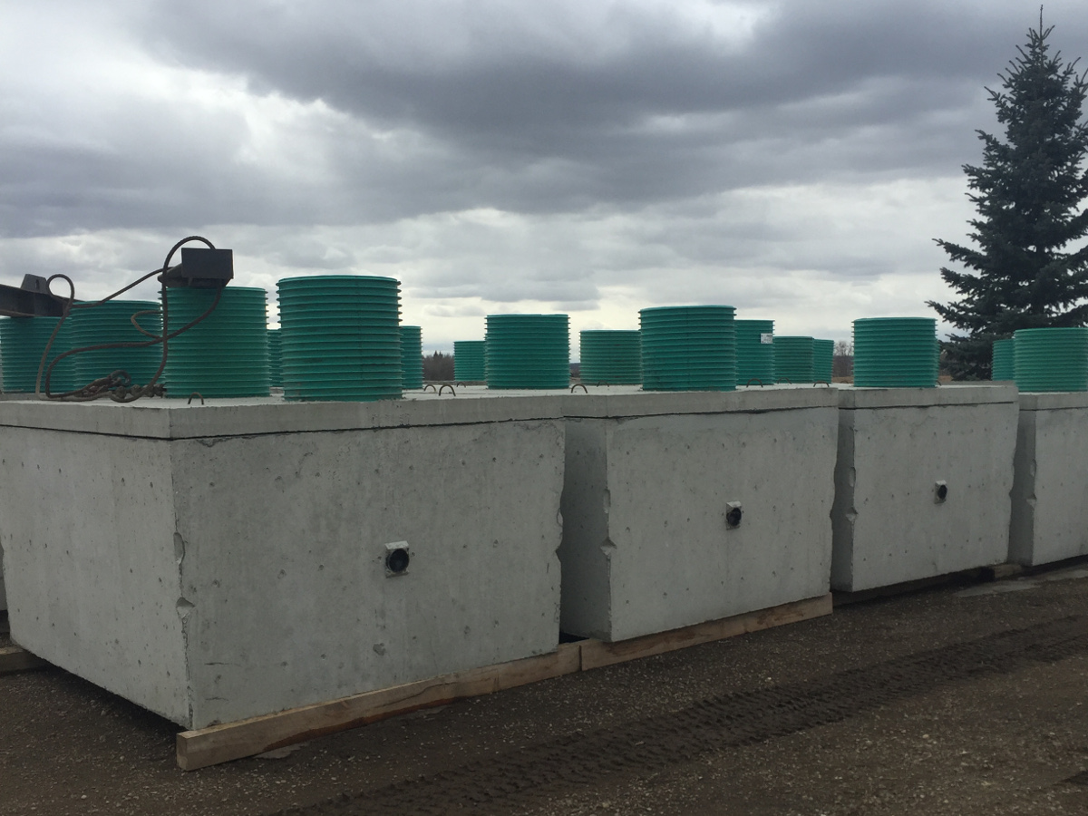Concrete Septic Tanks Ready for Delivery, Calgary Alberta